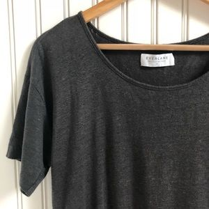 Everlane Heathered Gray Linen Knit Tee